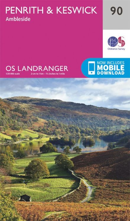 OS Landranger 90 Penrith and Keswick